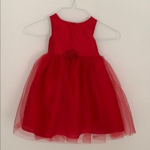 Red tulle dress for toddlers